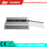 24V 10A 250W Waterproof a fonte de alimentação IP65 do diodo emissor de luz do interruptor IP67