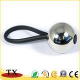 Горячий продавая изготовленный на заказ глянцеватый держатель ключа ключевого кольца шарика