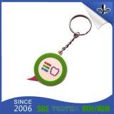 Items baratos para vender PVC Keychain con insignia de encargo
