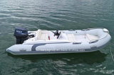 14FTの贅沢な肋骨のボートのヨットのガラス繊維の堅く膨脹可能なボート