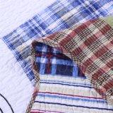 Colchas lavável 100% algodão Plaid roupa de Duas Peças Definido