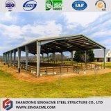 Entrepôt de mémoire préfabriqué de structure de qualité bon marché pour la grange de volaille