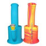 FDA unzerbrechliche abnehmbare bewegliche Kraut-Tabak-Rauchensilikon-Wasser-Öl KLEKS Rohr-Anlage