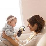 아기 어린이 침대 장난감 유아 남자 아기 소녀를 위한 견면 벨벳 암소 가르랑거리는 소리