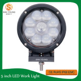 45W LED de coches fuera de carretera: luces, luces de trabajo 9PCS * 5W CREE LED chip, 3800 lúmenes de color blanco, acero inoxidable del soporte con Spot / Flood Rayo de luz, luces redondas