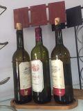 Retro 3 Wein-Metallhalter-Zahnstange mit hölzerner Unterseite