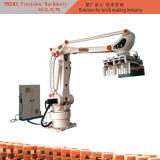 찰흙 벽돌 로봇 녹색 벽돌 겹쳐 쌓이는 기계