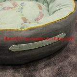 飼い犬のベッドの贅沢なキャンバスの円形の飼い犬のベッドを詰めるペットソファーのクッション犬のベッドのソファー