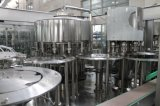 Potable automático de la planta de llenado de embotellado de agua mineral.