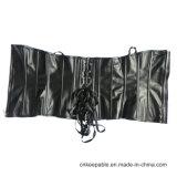 Una ropa interior mas pechugona Clubwear del corsé de Steampunk del cuero del Faux de la PU de las mujeres