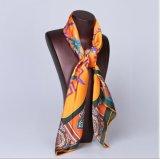 Custom дизайн высокого качества женщин шелковые шарфы