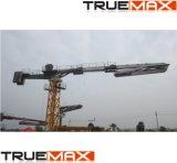 Le matériel de construction en plaçant le rayon de 32 m de la machine en béton