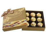 Rectángulo del chocolate del postre/rectángulo de regalo de papel de Brown Cmyk