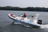 Barco do reforço do PVC de Liya 22feet ou do barco FRP do esporte de Hypalon