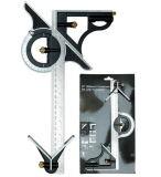 12 het Vierkant van de Combinatie van de duim en de Heerser van het Roestvrij staal van de Gradenboog