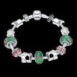 De zilver Geplateerde Kunstmatige Juwelen van de Armband van de Parels van het Glas DIY Regelbare