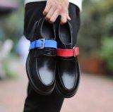 Mens elegante vestido de couro preto Calçado de negócios