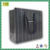 Costume luxuoso saco de compra de papel laminado com impressão do logotipo