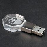 Мода Crystal Jewel Пользовательский логотип 3D-карту памяти Memory Stick USB Memory Stick™ с синий светодиодный индикатор