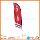 屋外のカスタム羽の飛行の上陸海岸表示旗