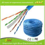 Cable del cable de LAN de los datos 24AWG Cat5e UTP
