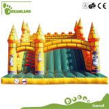 Diapositiva de agua inflable de salto gigante de los castillos