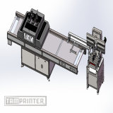 Schiefer Arm-Typ Bildschirm-Drucken-Maschine mit UVtunnel-Trockner