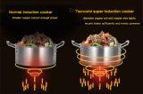Super Tecworld cocina de inducción de 2000W el ahorro de energía multifunción de gran potencia de la bobina All-Cooper