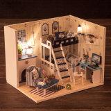 2017 DIY Деревянная кукла миниатюрный дом для детей