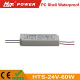 24V 2.5A 플라스틱 방수 LED 전력 공급 세륨 RoHS Hts 시리즈