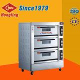 Horno de panadería eléctrico comercial de la máquina 3-Deck 6-Tray de la hornada para la venta