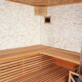 Povos ao ar livre do quarto 4 da sauna do vapor de Sunrans com madeira de pinho de Finlandia