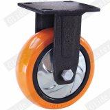 6 polegadas da roda de poliuretano Laranja Rodízio Industrial para Serviço Pesado