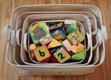 丈夫な軽量の綿はバスケットのおもちゃの子供ペット洗濯のための折りたたみキャンバスの収納用の箱を受け取る
