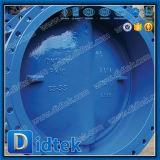 Didtek Pn10のバット溶接三倍のオフセットの蝶弁