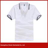T-shirts de polo d'été d'hommes de coton de fabrication d'usine de Guangzhou (P102)