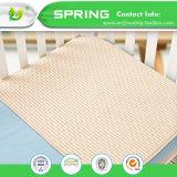 Fita hipoalergênica Presépio anti-bacteriano Terry Bambu Colchão colchão impermeável Muda fraldas para bebé