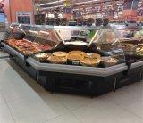 큰 수용량 샌드위치 가게 예, 요리된 음식 신선한 전시 진열장