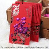 Clinquant chaud chaud olographe de plastique de papier de vente de clinquant d'estampage