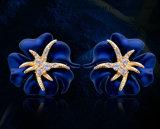 Oorringen van de Manier van de Nagel van het Oor van de overzeese Diamant van de Ster de Blauwe & Rode Unieke