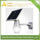 luz solar del jardín de la lámpara de calle del silicio monocristalino de la eficacia alta 12W LED