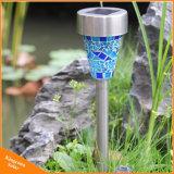 태양 강화된 LED 정원 모자이크 장식적인 빛