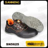 黒いカラー革PPEの安全靴Sn5624