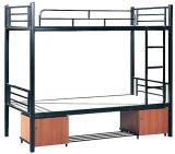 Populäres Schule-Metallrahmen-Koje-Bett mit Schreibtisch für Erwachsen-Kursteilnehmer