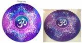 Циновка йоги раздумья уникально конструкции Om Mandala лотоса акварели круглая