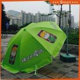 Windundurchlässiger Strand-Regenschirm-Garten-Regenschirm-im Freien fördernder Regenschirm