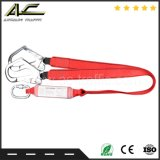 Durable Emergency Red Doubles Safety Rope Harness Hook with Carabiner