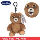 Vulde de Zachte Pluche van de Huisdieren van Feisty de Enge Gift van Kerstmis van het Stuk speelgoed van de Tegenhanger van het Gezicht Dierlijke
