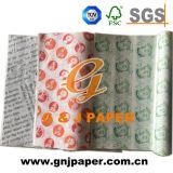 Verschiedenes Farben-Firmenzeichen passte Nahrungsmittelverpackungs-gedrucktes Papier für Verkauf an