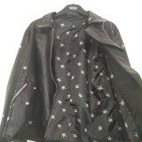 Новая приезжанная черная куртка PU для износа женщин наружного